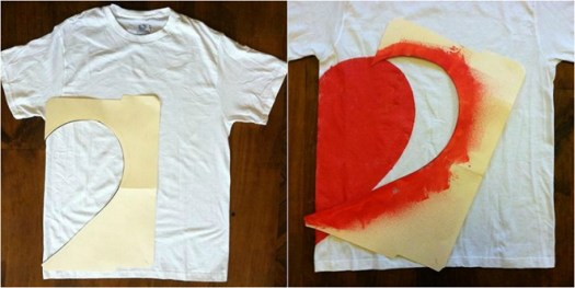 Diy Valentine S Gifts Men White T Shirt Red Fabric Paint