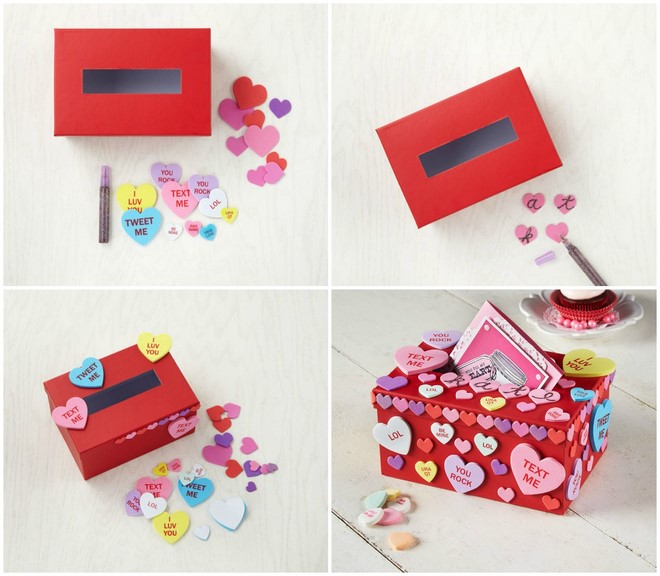 Ideas For Decorating Valentine Box: Valentine S Day Box Decorating Ideas