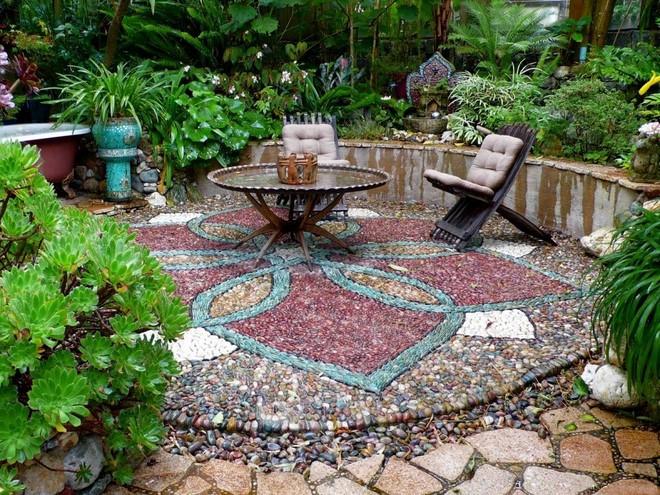 how to make natural pebble mosaic and