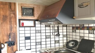 マスキングテープを使ったキッチンのタイルリメイク