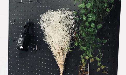観葉植物を飾った隠し扉