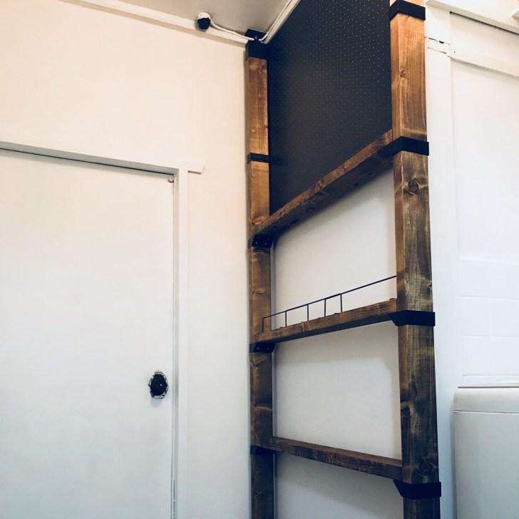 ラブリコと有孔ボードで簡単DIYした棚