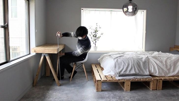 ソーホースブラケットテーブルの高さを決める