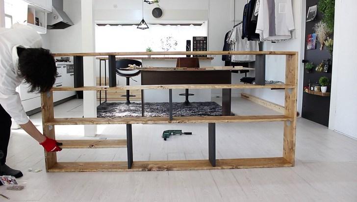 横幅70㎝の調味料置き場を固定