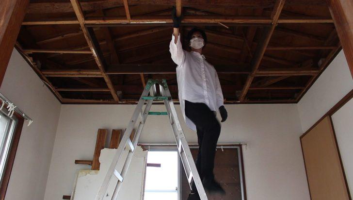 天井の骨組み(野縁)を確認