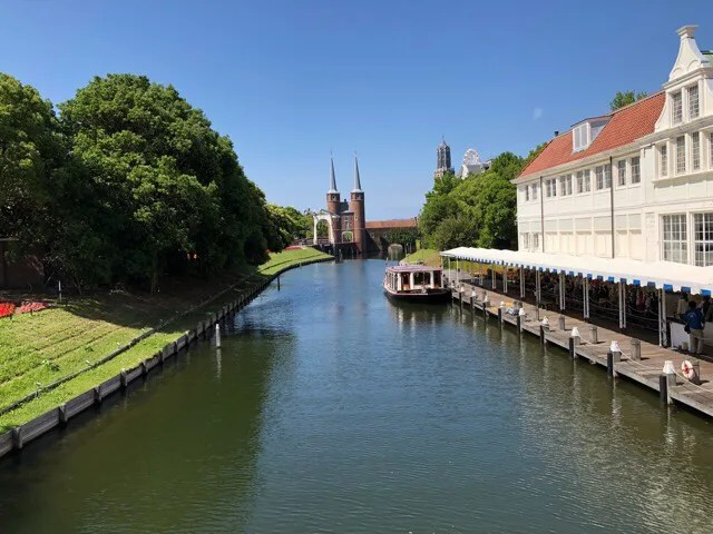 ハウステンボスの中を流れる運河