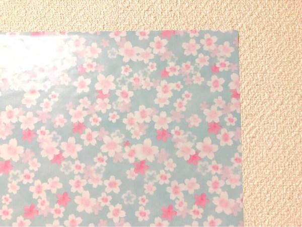 ダイソーの筒状のリメイクシート はんなり桜を間近で見る