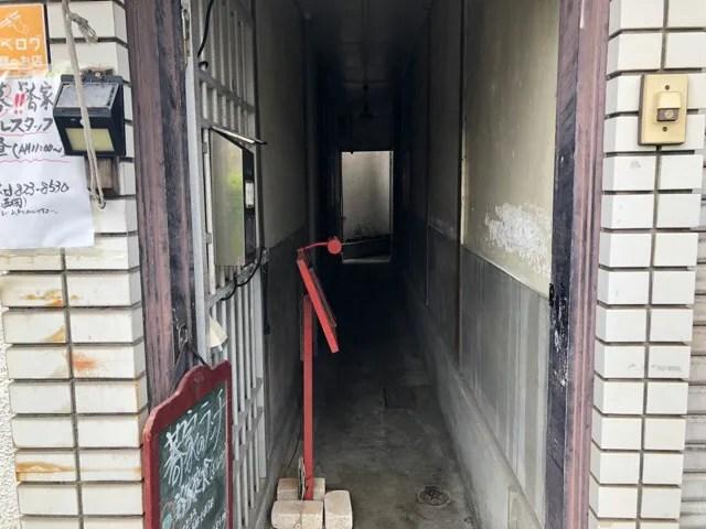 万屋町の蕎家は狭い路地を進んだ先にある