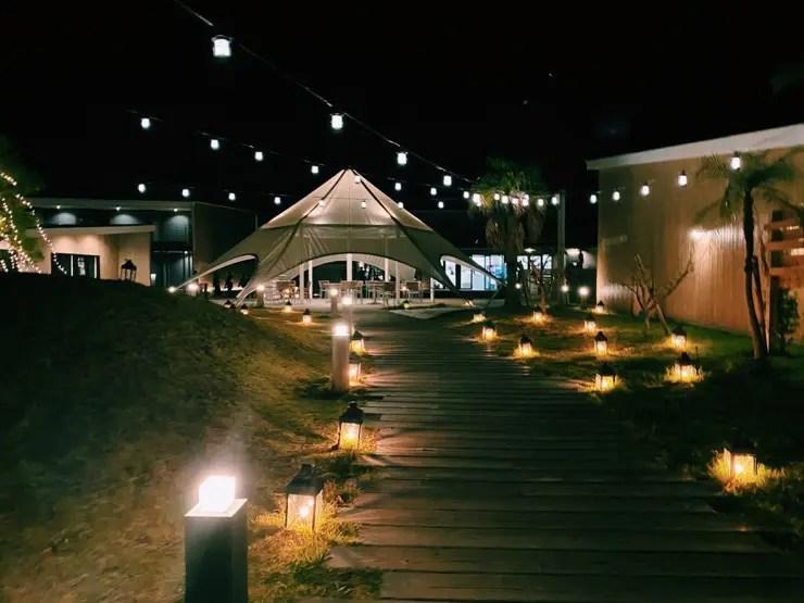 i+Land nagasakiの夜のポートエリア