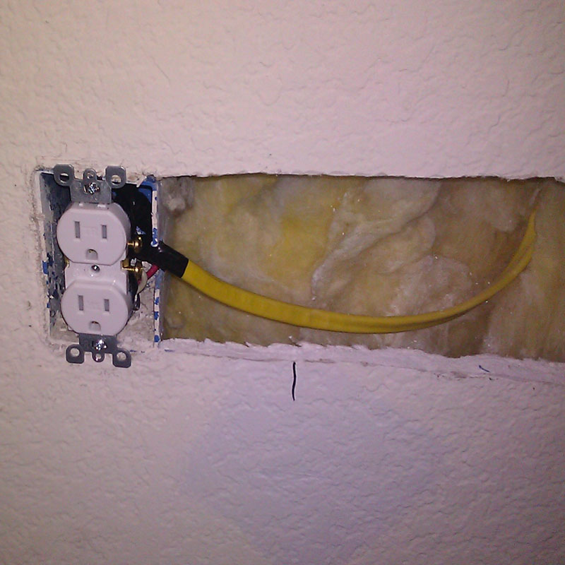 Running Wires From A Switch Controlled Power Outlet Through The Wall