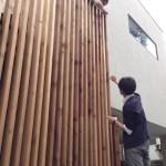 外部ルーバー塗装DIY:千束の家