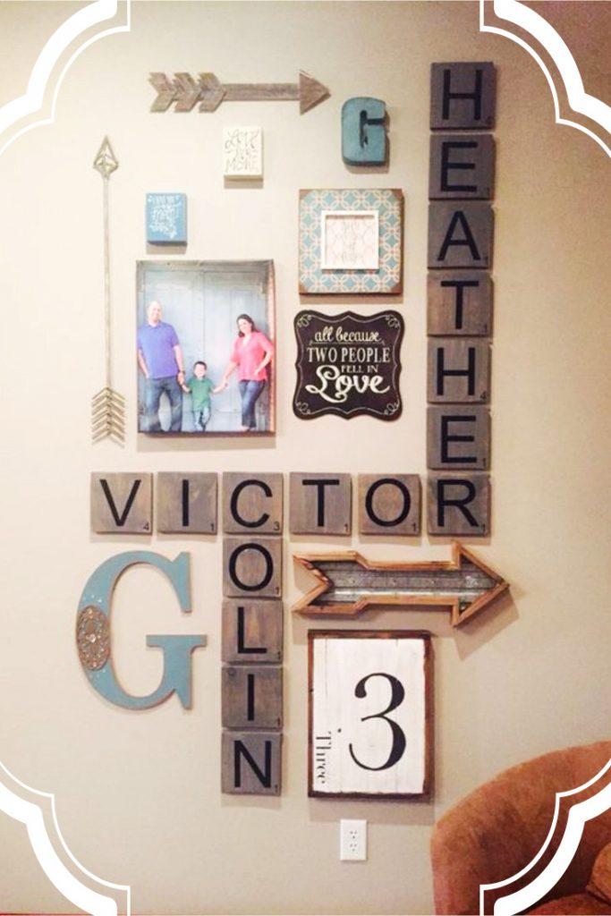 DIY Farmhouse Scrabble Wall Art Decorating Ideas DIY Lifestyle