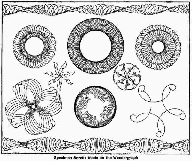 Specimen scrolls made on the wondergraph