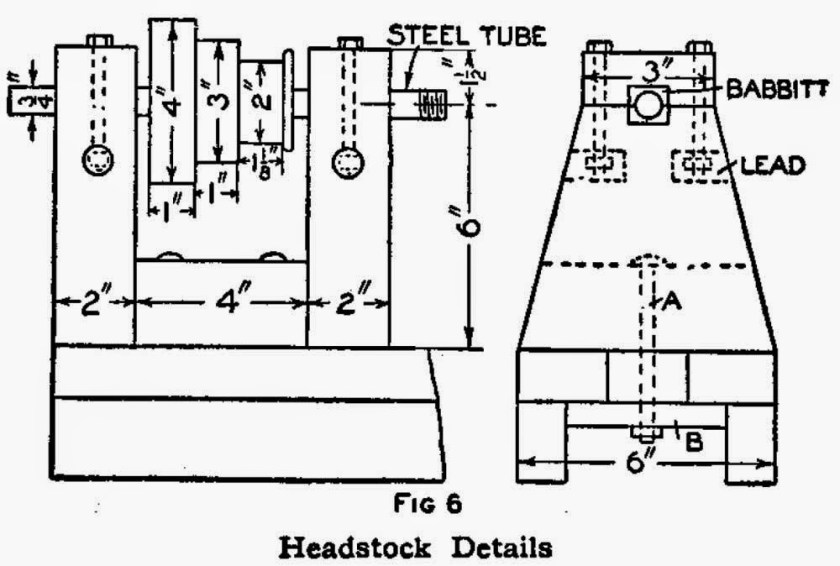 How to Make a Lathe - Headstock Details