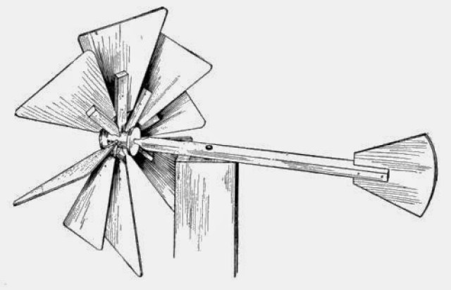 Homemade Wooden Toys - Eight-blade Windmill