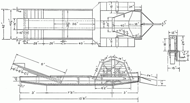 Detail Drawing of the Boat and One of the Paddle Wheels.