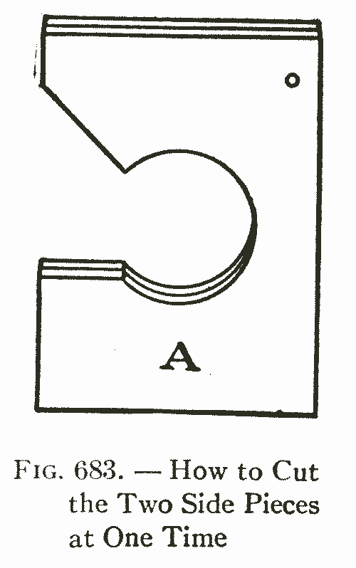 Fig. 683. — How to Cut the Two Side Pieces at One Time