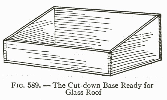 Fig. 589. — The Cut-down Base Ready for Glass Roof