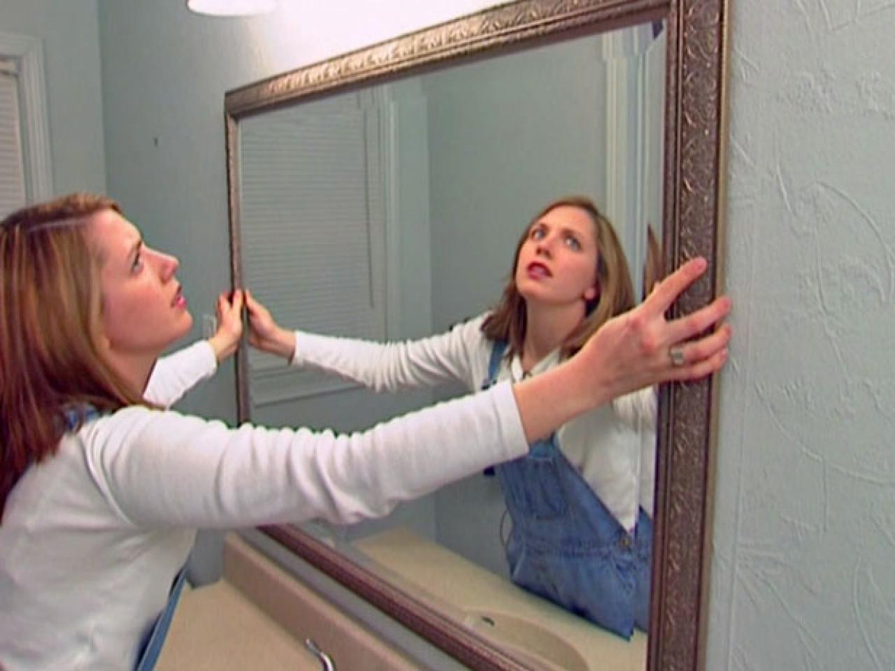 How to Install a Bathroom Mirror  howtos  DIY