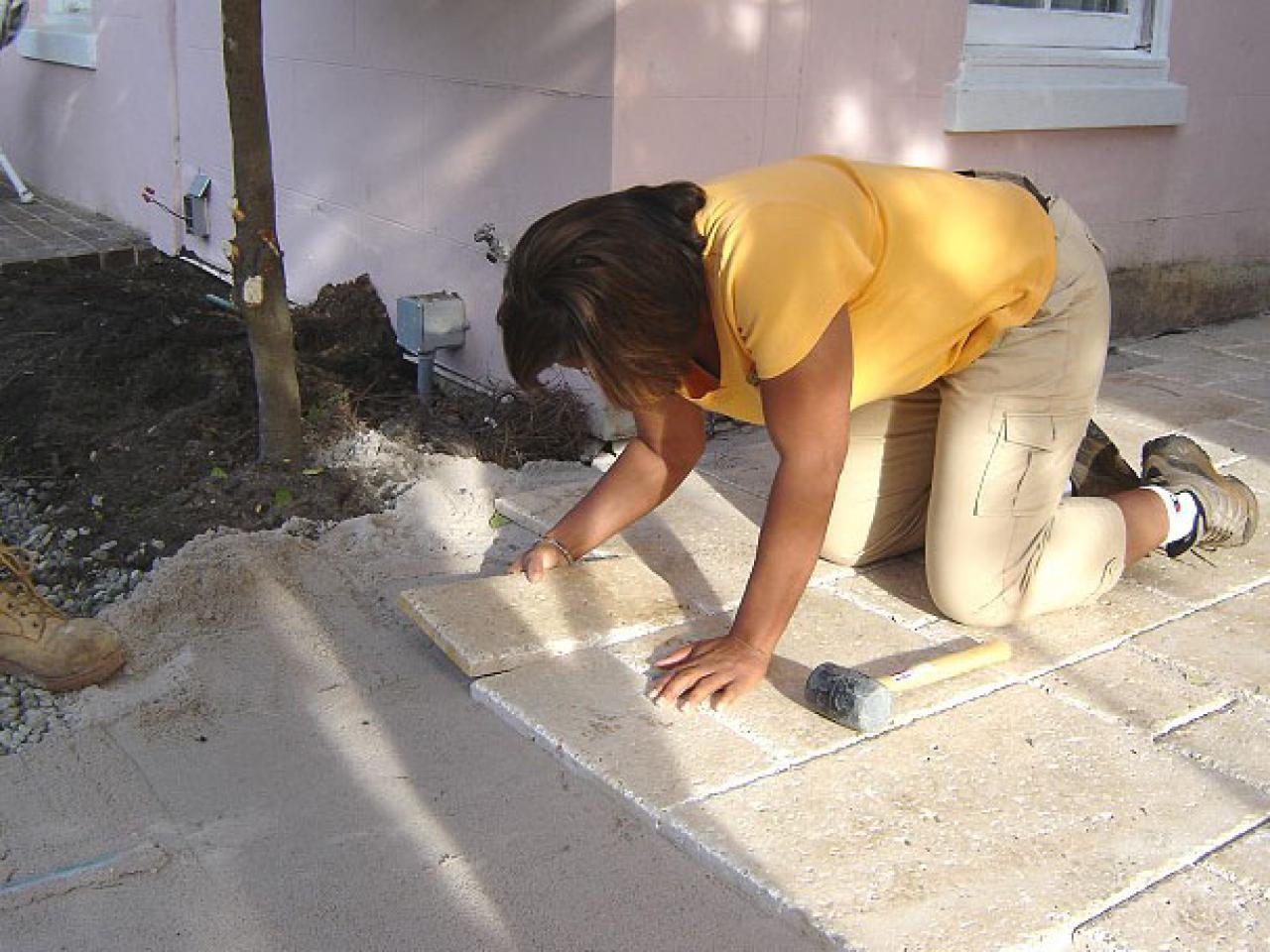 How to Build a Travertine Tile Patio  howtos  DIY
