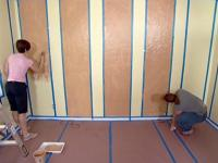 How to Paint Striped Walls for a Contrast of Color