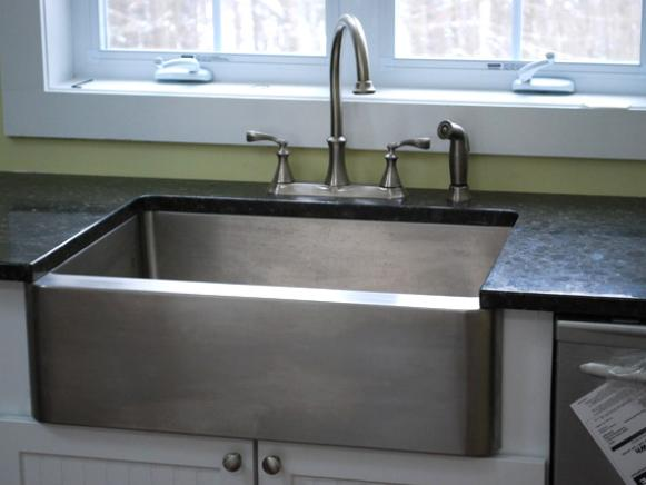 kitchen utilities butcher block countertops planning around during a remodel diy stainless farm sink