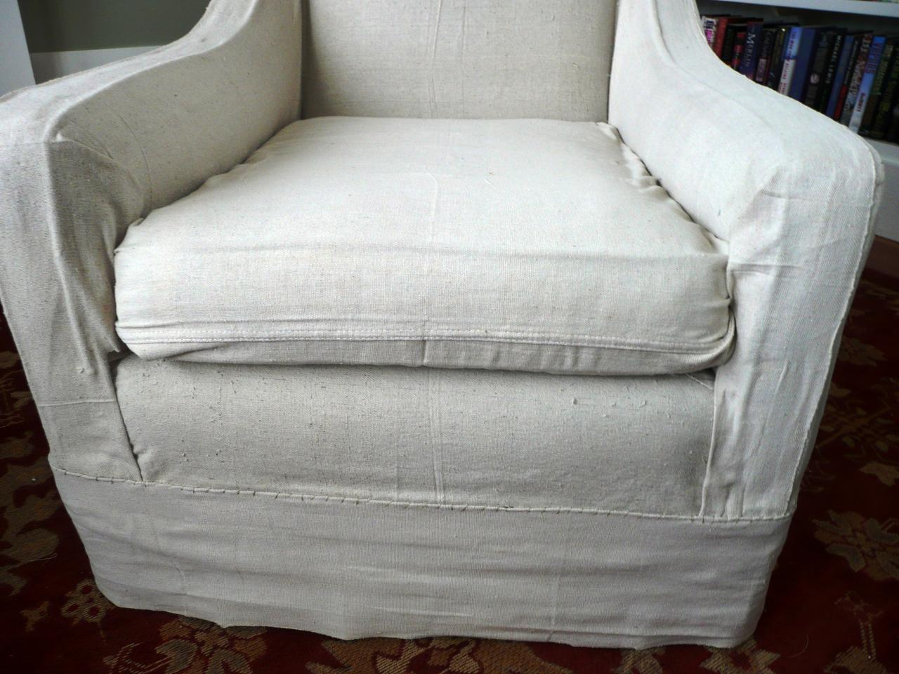 Slip Cover For Chair How To Make Arm Chair Slipcovers For Less Than 30 How Tos Diy