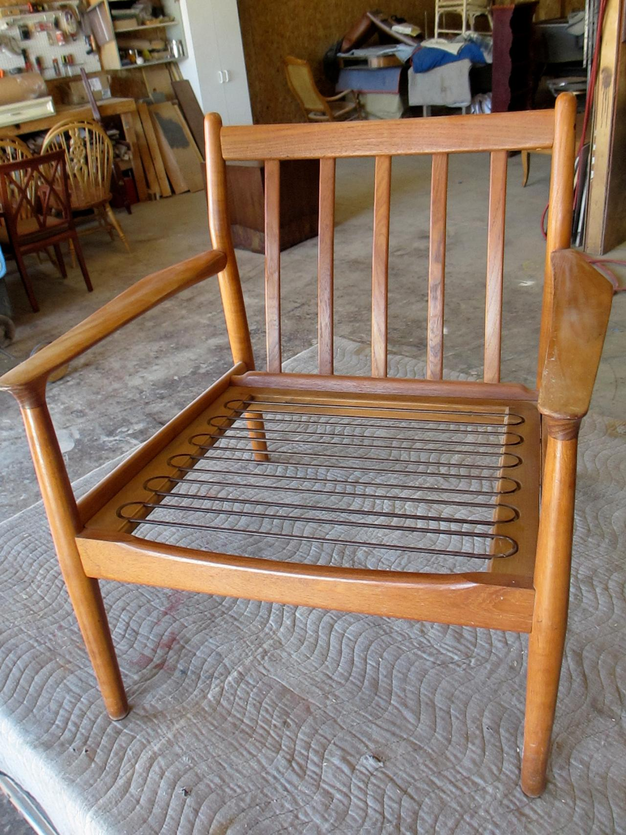 modern wood chair plans cane bottom rocking how to refinish a vintage midcentury diy