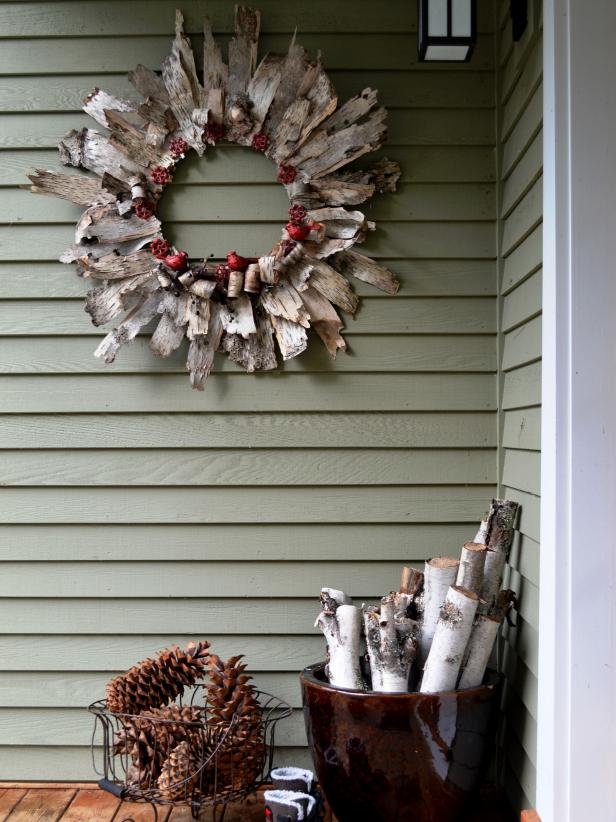 White Birch Bark Wreath