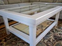 An Upcycled Door Becomes a Glass-Top Coffee Table | DIY