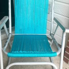 Vintage Lawn Chair Poang Covers Etsy How To Macrame A Tos Diy Step 9