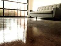 How to Apply an Acid-Stain Look to Concrete Flooring | how ...
