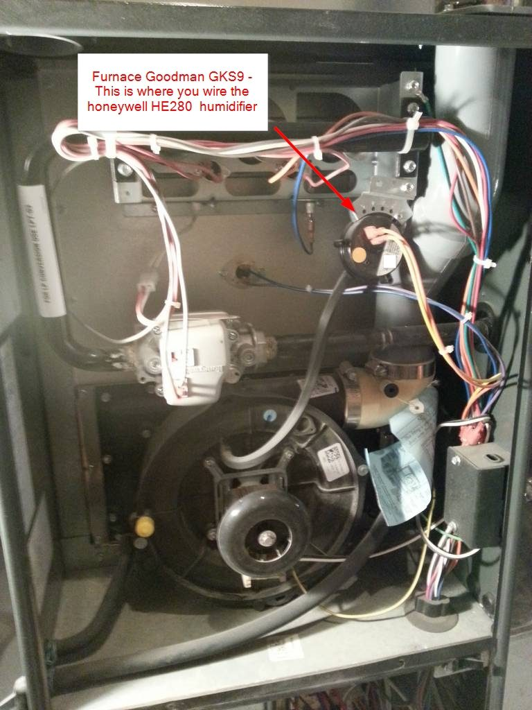 Honeywell Rth9580wf Wiring : honeywell, rth9580wf, wiring, Installation, Honeywell, Thermostat, RTH9580WF, HE280, Humidifier, DIYable.com