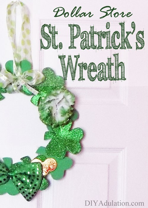 Dollar Store St. Patrick's Wreath