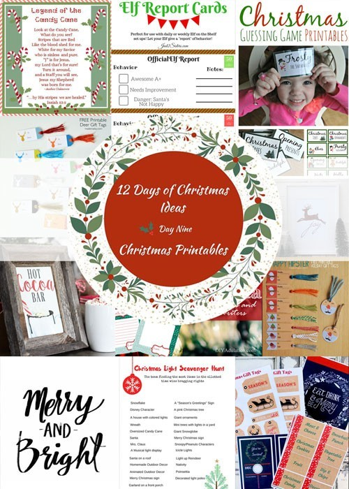 Prevent holiday overwhelm easily is by utilizing free Christmas printables. This round up will have you covered from holiday parties to kids' games.