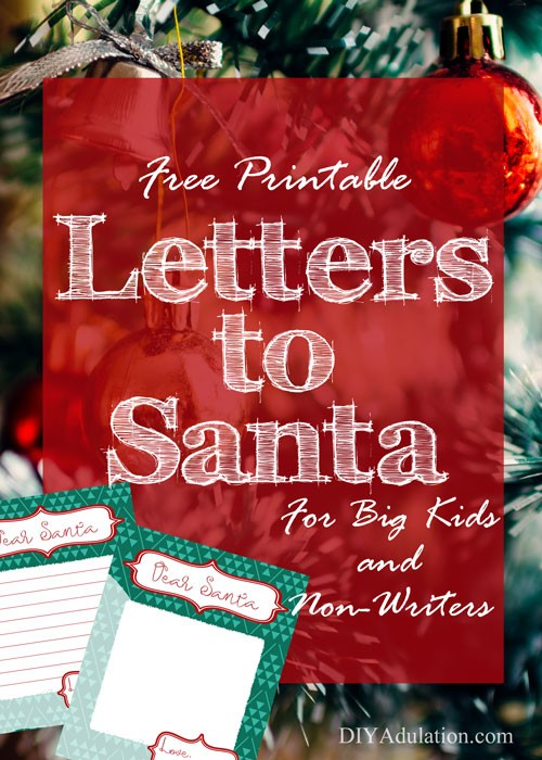 Free printable letters to santa for big kids and non writers start a fun and easy tradition this year with these free printable letters to santa spiritdancerdesigns Image collections