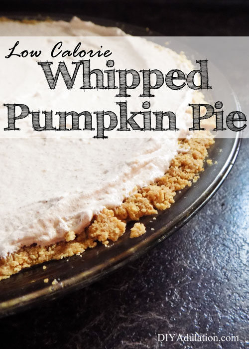 Low Calorie Whipped Pumpkin Pie