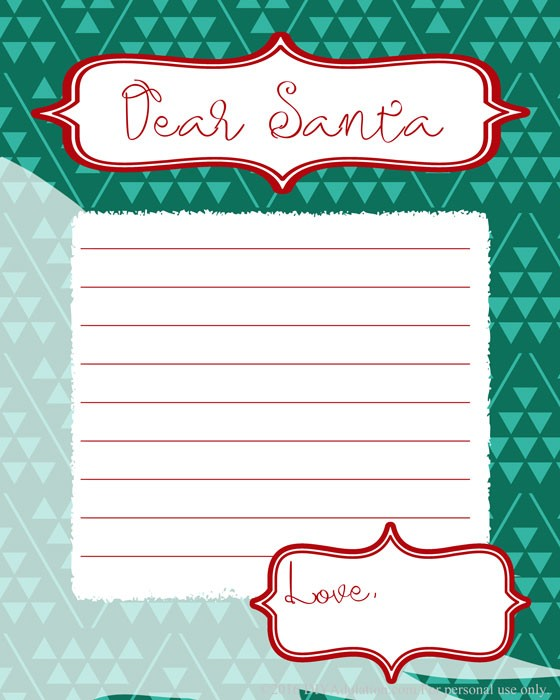 Start a fun and easy tradition this year with these free printable letters to Santa. Don't worry. There are options for big kids and non-writers!