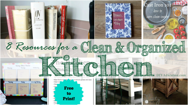 Don't miss these 8 resources for a clean and organized kitchen featuring links from last week's party. Then link up at the Merry Monday Link Party 142.