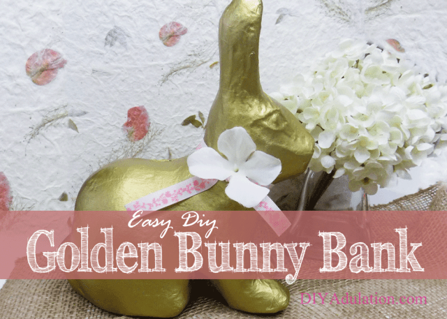 This easy DIY golden bunny bank is a gorgeous addition to your Easter décor. Find out how it can also make your Easter day easier!