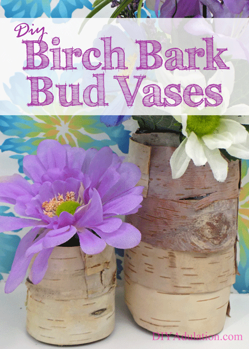 Getting your home ready to welcome it is a great way to hurry spring along. Start by making these DIY birch bark bud vases to display those first violets!