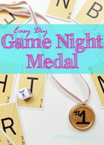 Easy DIY Game Night Medal