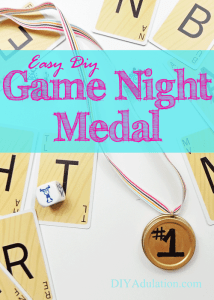 Easy DIY Game Night Medal