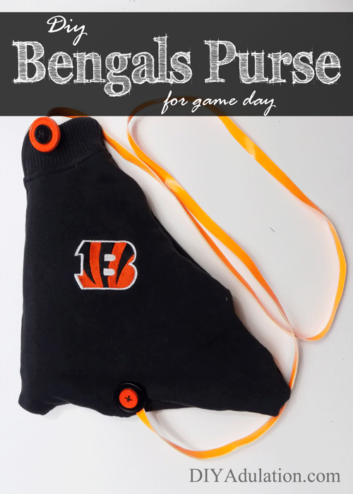DIY Cincinnati Bengals Purse for Game Day