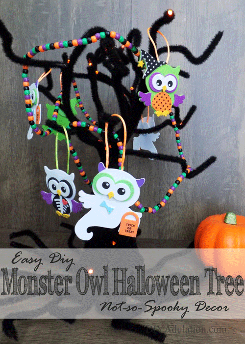 Easy Monster Owl Halloween Tree : Not-So-Spooky Decor