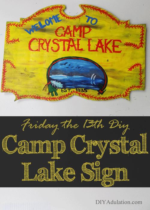 Friday the 13th DIY Camp Crystal Lake Sign