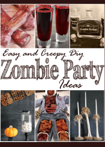 Easy and Creepy DIY Zombie Party Ideas + MM 176
