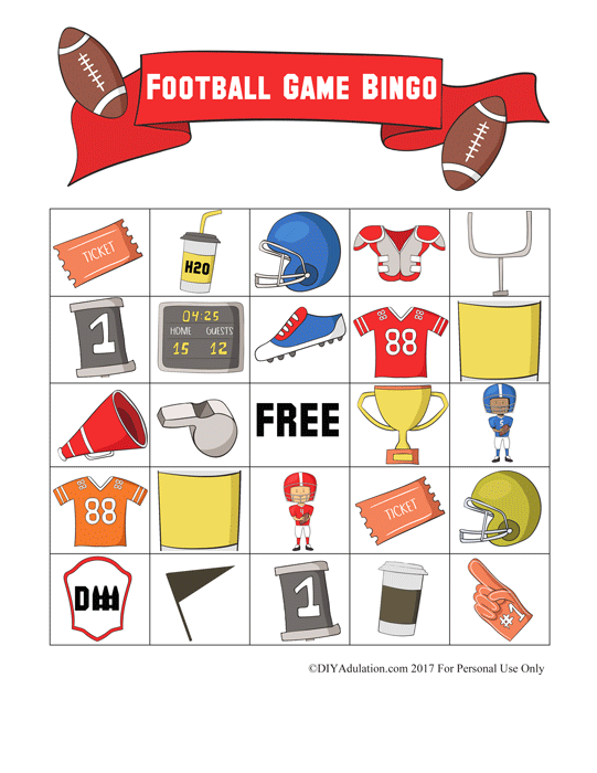 This month's Movie Monday Challenge is all about fall. Grab your free printable football bingo kit inspired by The Blind Side to make games fun for kids!
