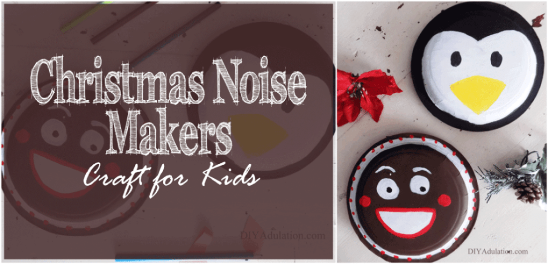 You hate to admit it, but sometimes kids need to get loud and make some noise. These Christmas noise makers are the perfect craft to let kids cut loose.