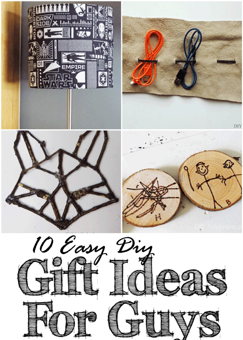 10 Easy DIY Gift Ideas for Guys :: Budget Friendly